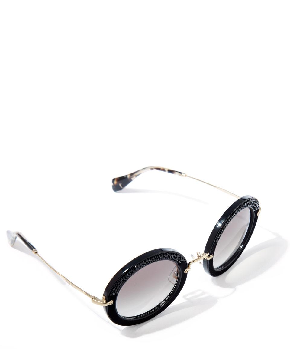 cadc89f313f Miu Miu Glitter Sunglasses Round