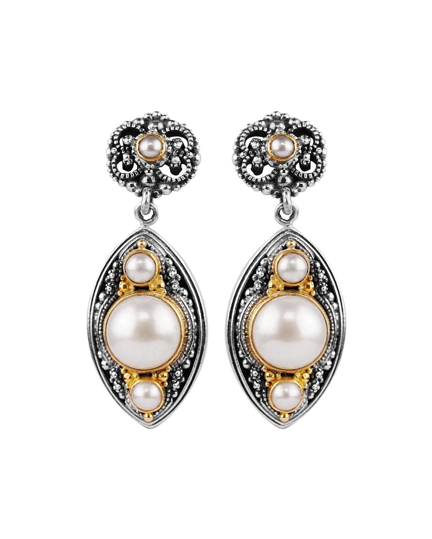 konstantino mabe pearl drop earrings in lyst