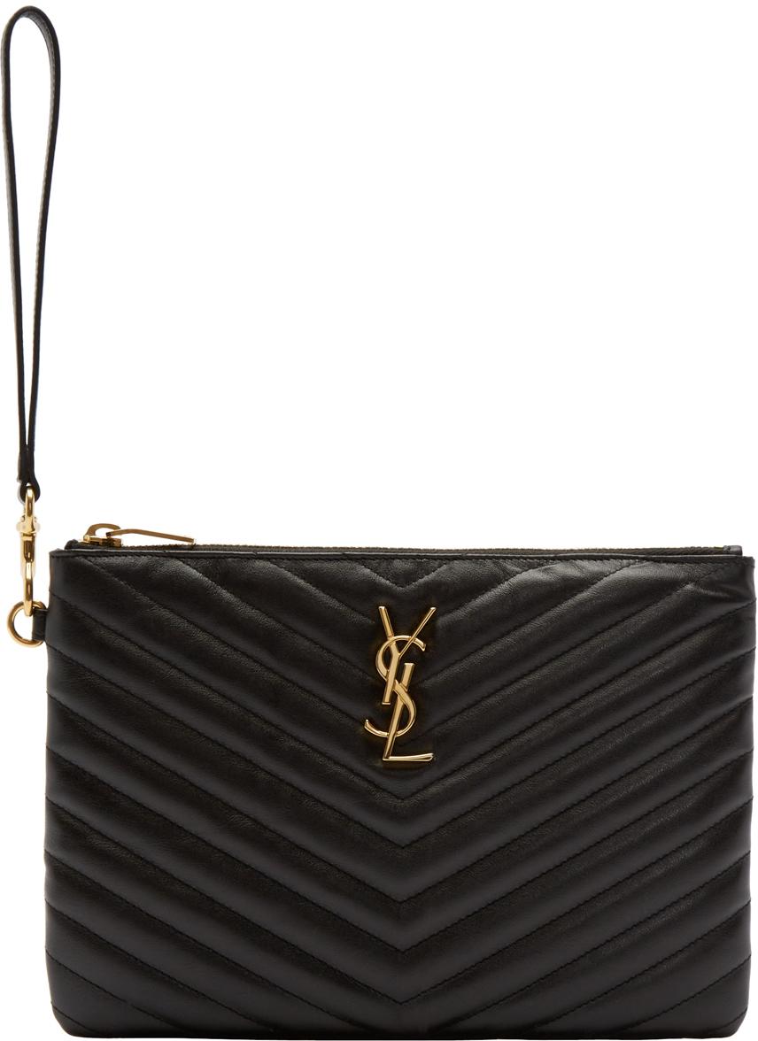 Monogram zipped pouch - Black Saint Laurent eSGJ0zZ