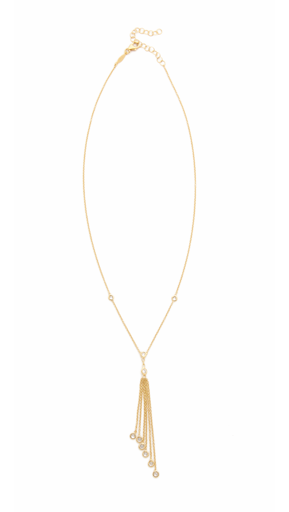 Jacquie Aiche Tassel Necklace in Metallic Gold Q6vh1