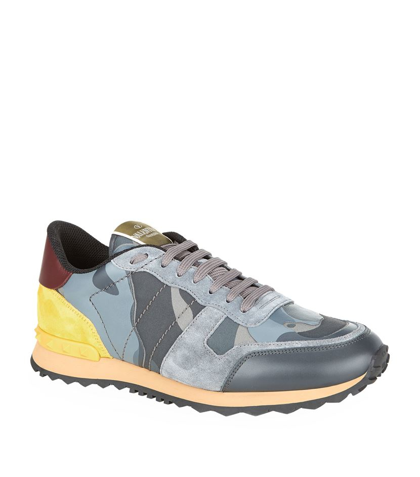 valentino camo sneaker in blue for men lyst. Black Bedroom Furniture Sets. Home Design Ideas