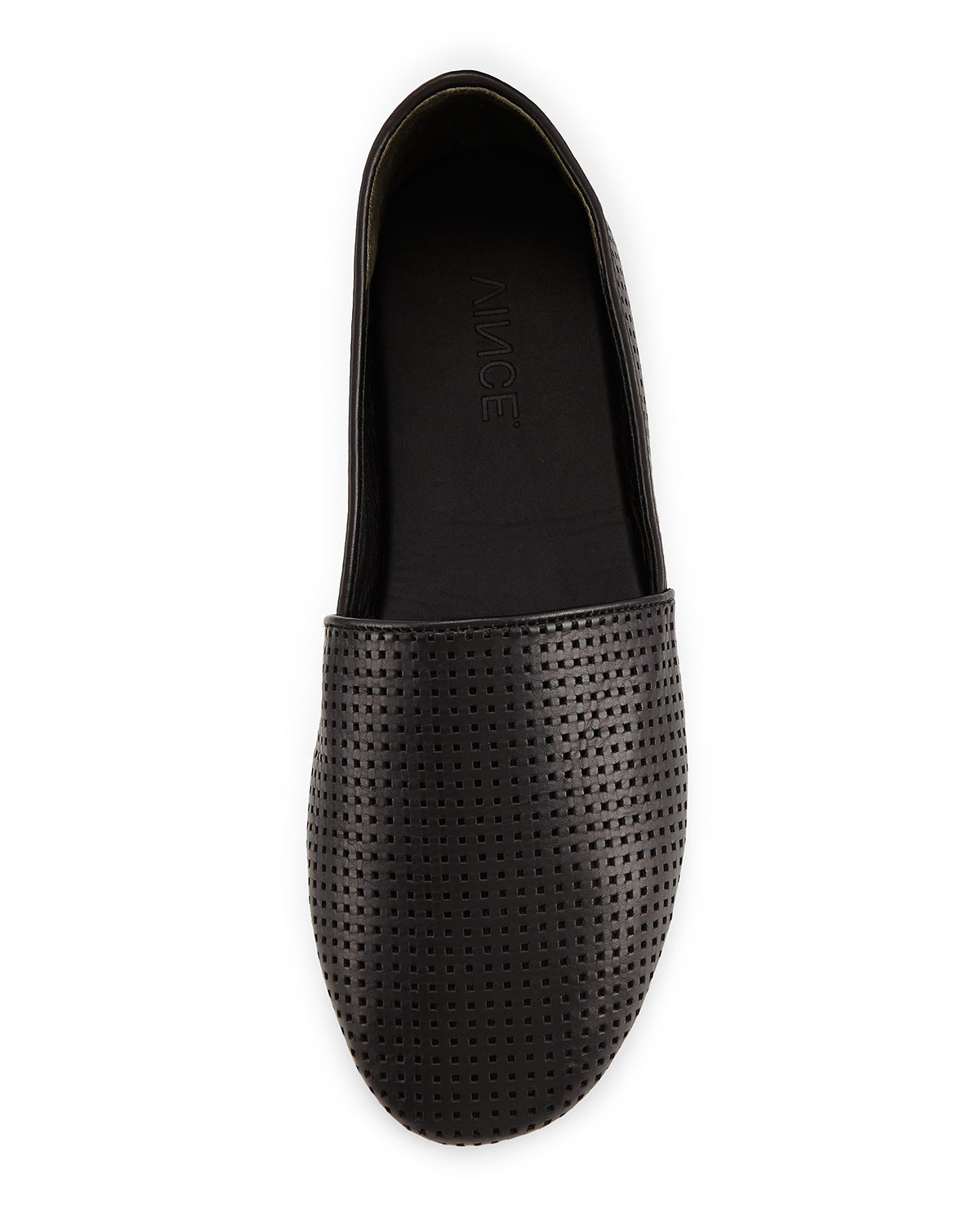 Vince Bogart 3 Perforated Leather Flats In Black Lyst