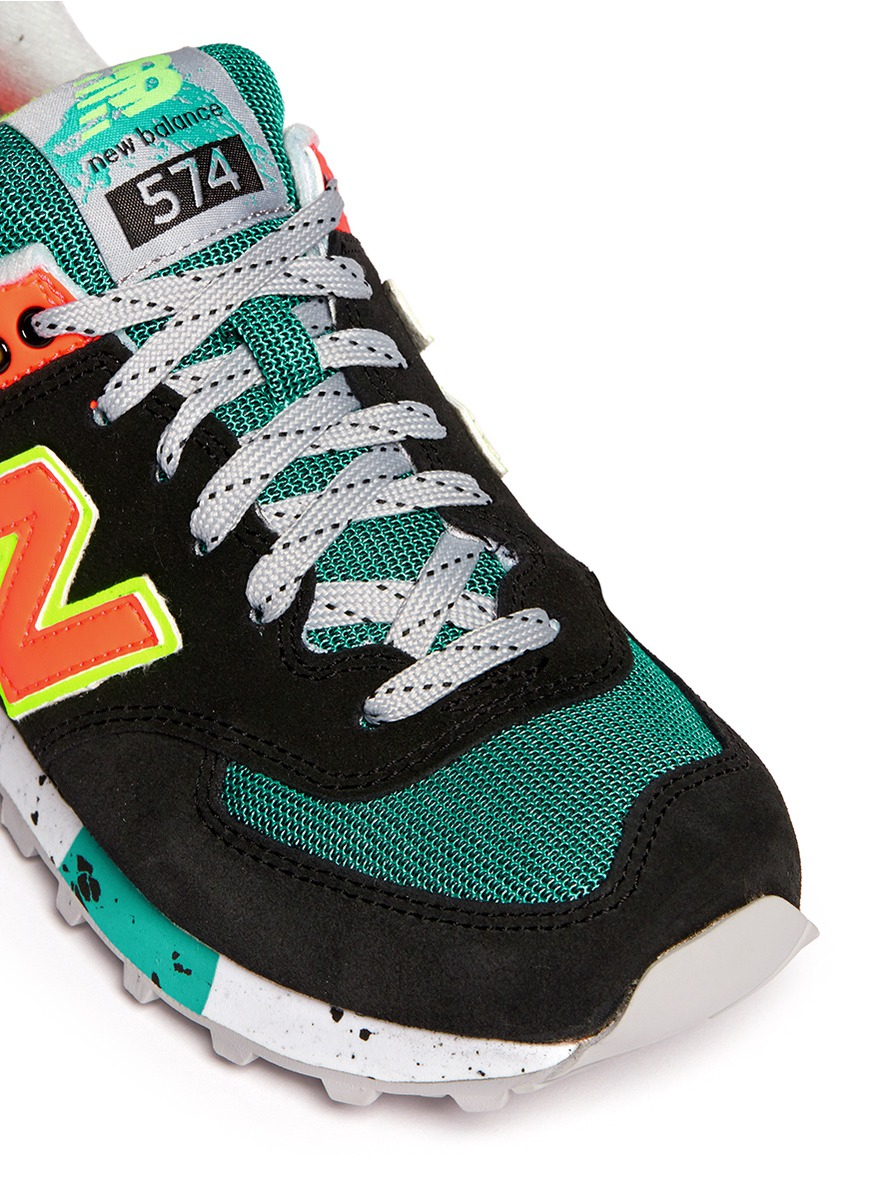 new balance 574 multicolor trainers