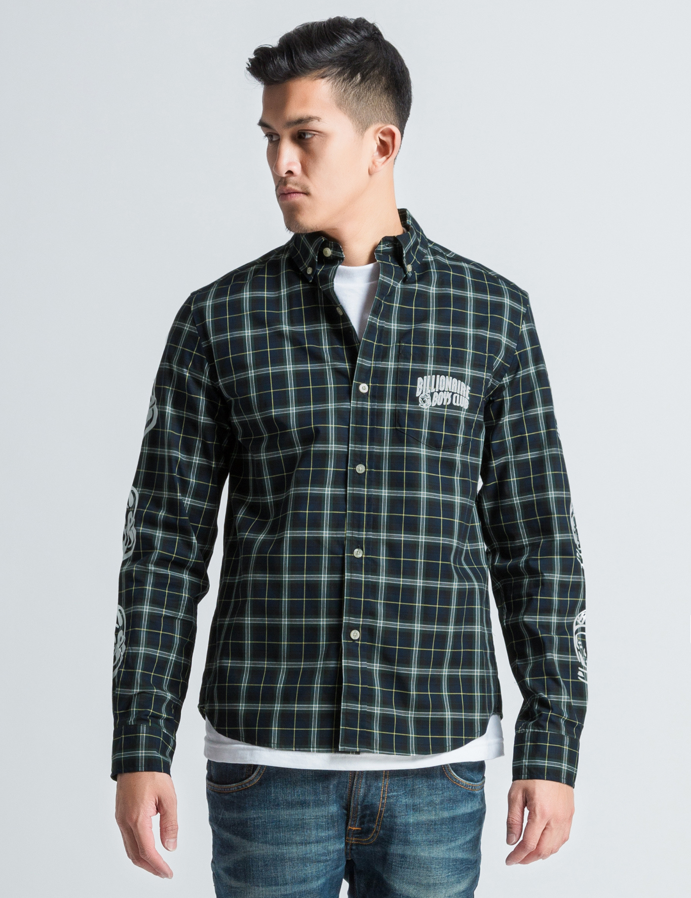 Billionaire Boys Club Ice Cream Green Plaid Button Down