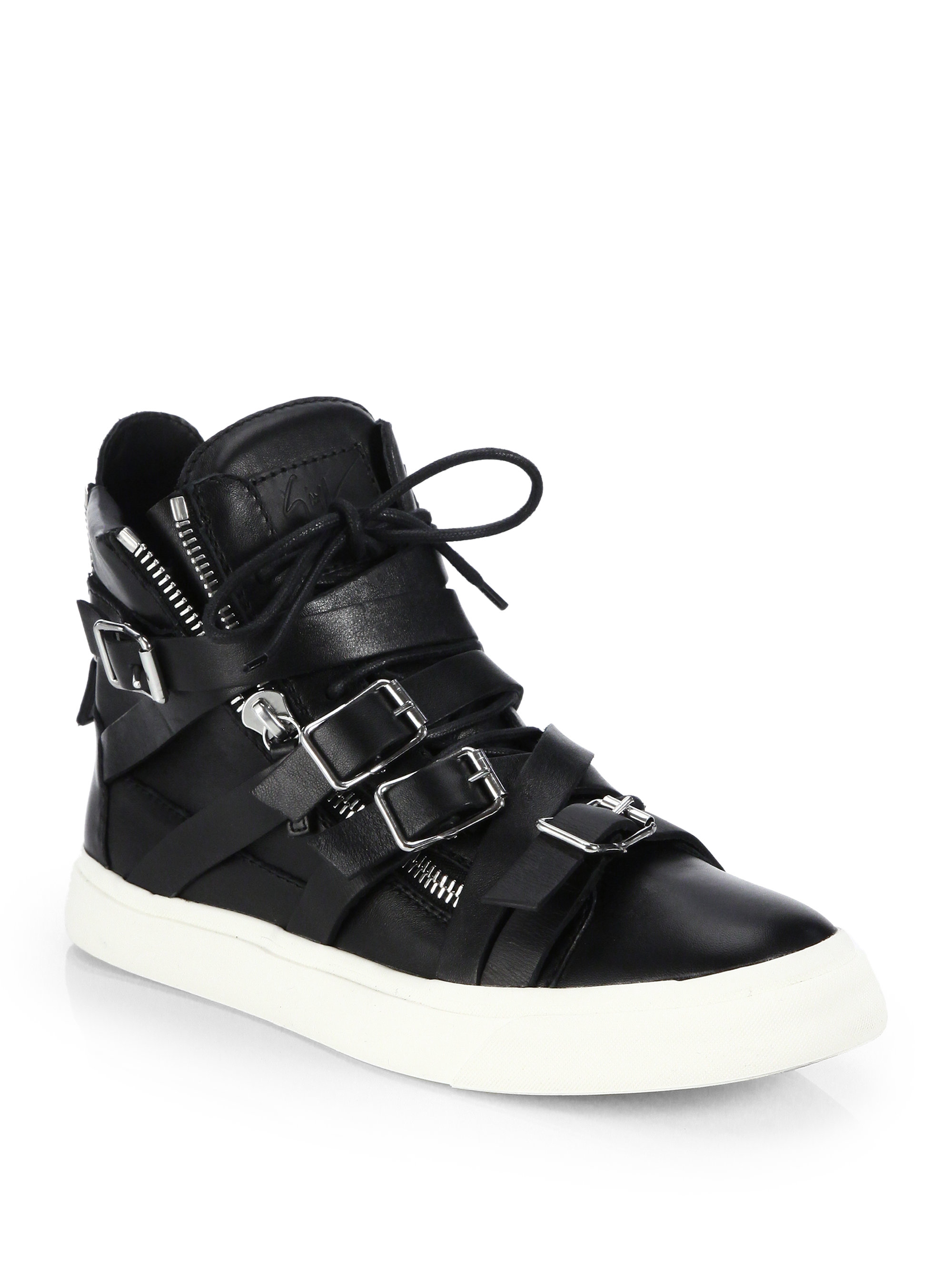 Mens High Top Shoes With Straps