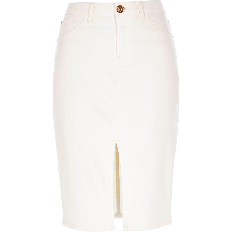 Cream denim skirt – Modern skirts blog for you