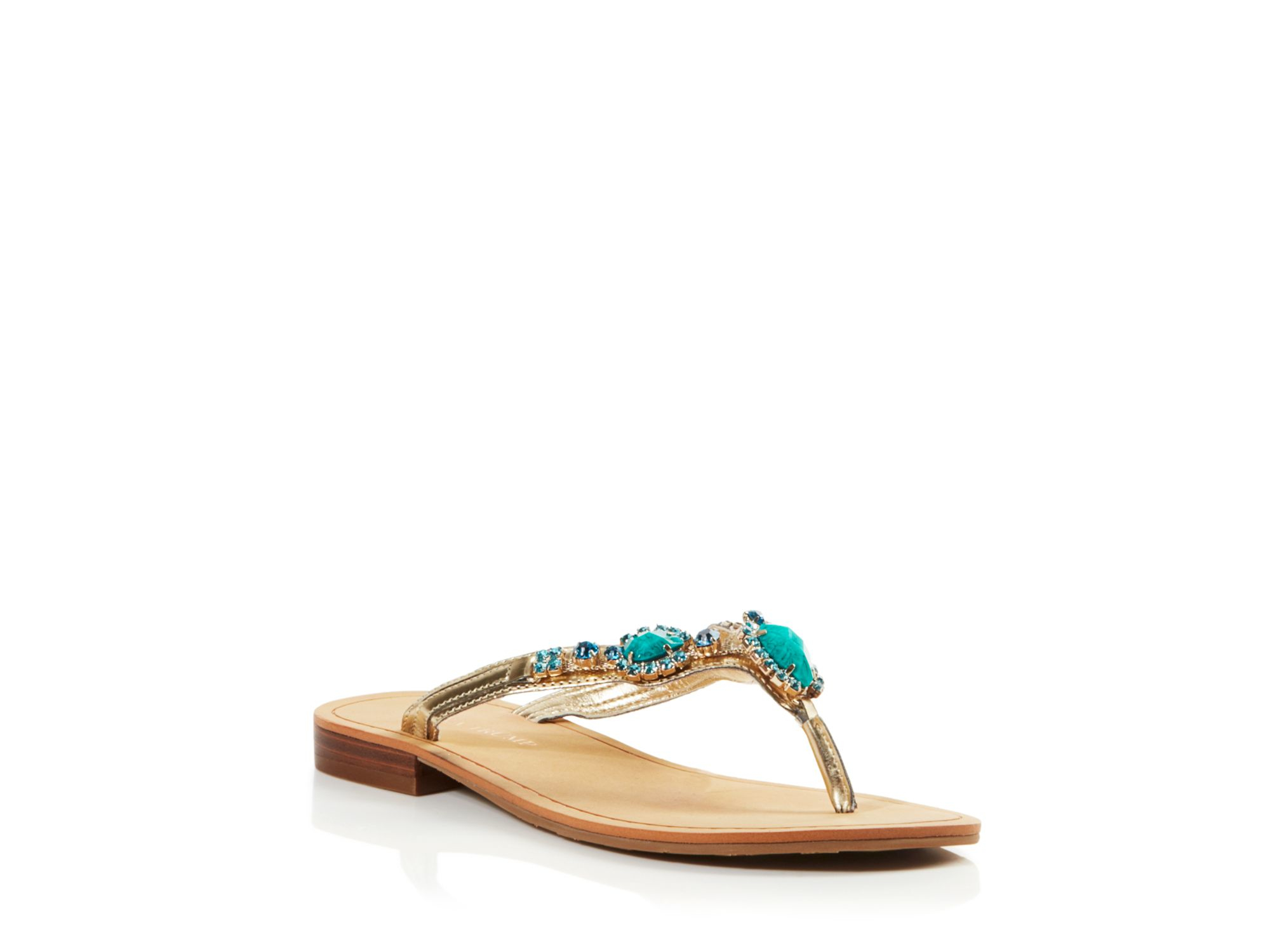 Ivanka Trump Sandals Palla Embellished In Metallic Lyst