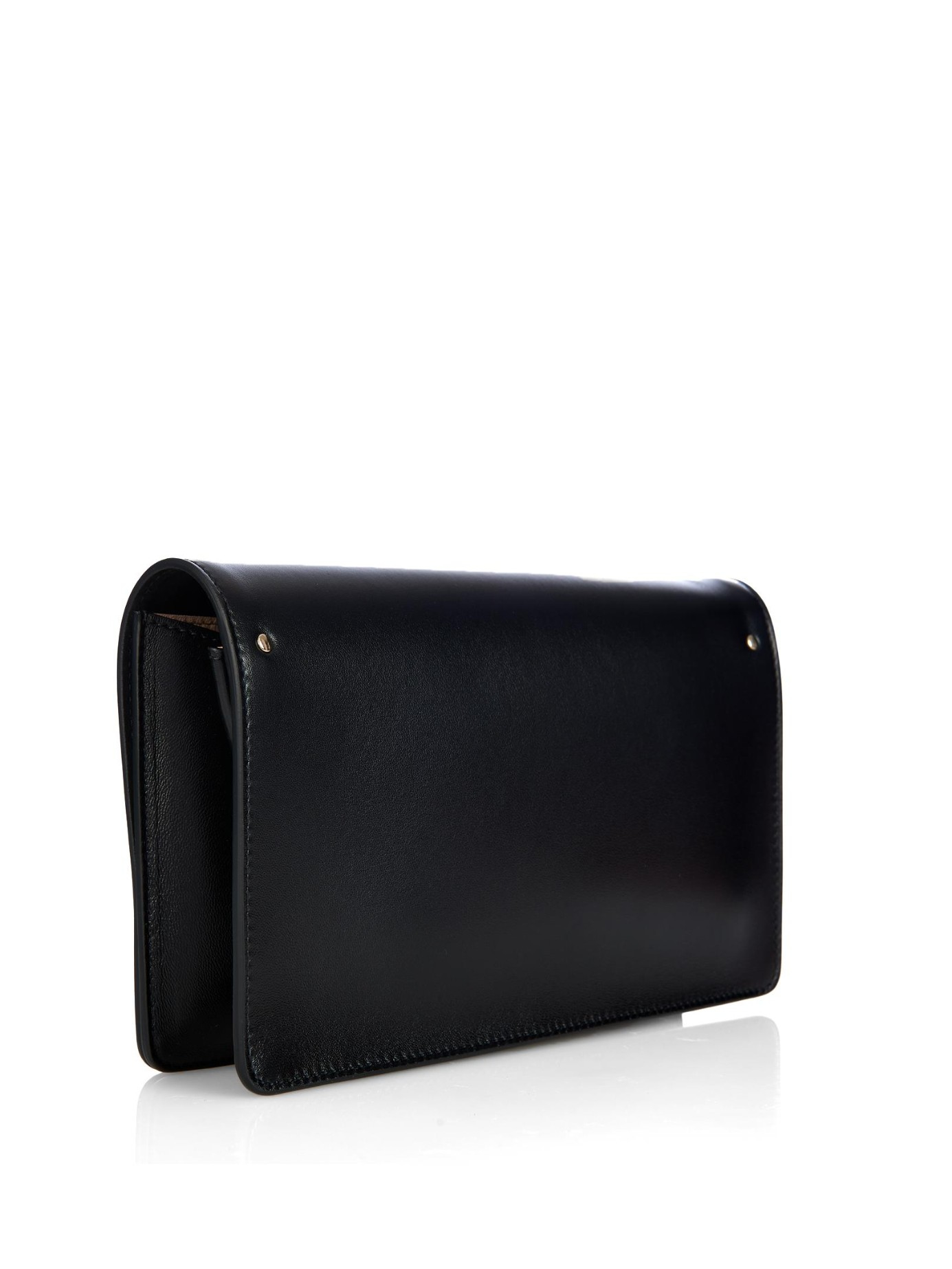 Chlo�� Gabrielle Leather And Suede Clutch in Black | Lyst