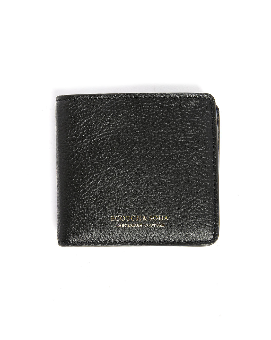 scotch soda black leather zipped coin wallet in black. Black Bedroom Furniture Sets. Home Design Ideas