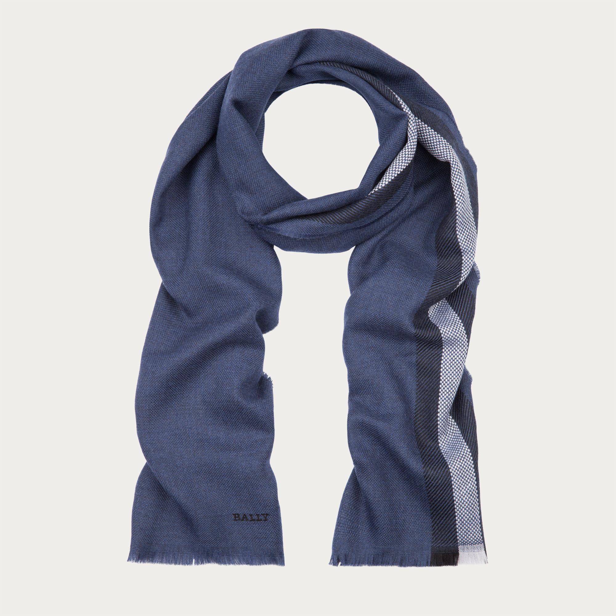 bally wool stripe scarf s wool scarf in multidarknavy