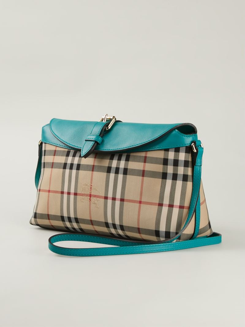 Burberry Horseferry-Check Cross-Body Bag in Natural