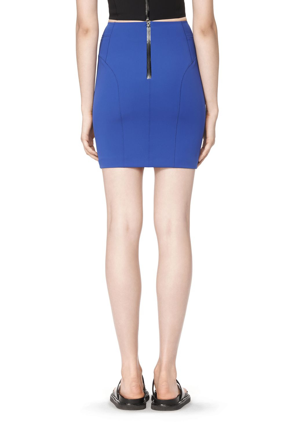 wang tech suiting pencil skirt in blue lyst