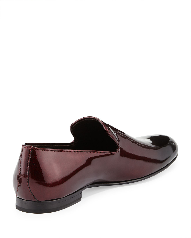 b84de8150d1c Lyst - Jimmy Choo Sloane Mens Ombre Patent Slipper in Brown