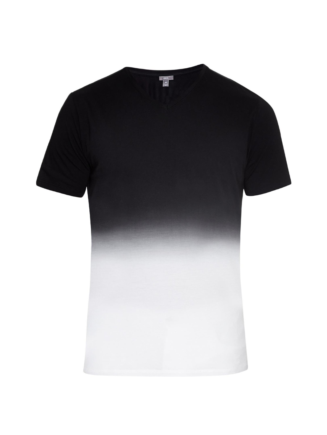 Vince dip dye cotton top in black for men lyst for Vince tee shirts sale