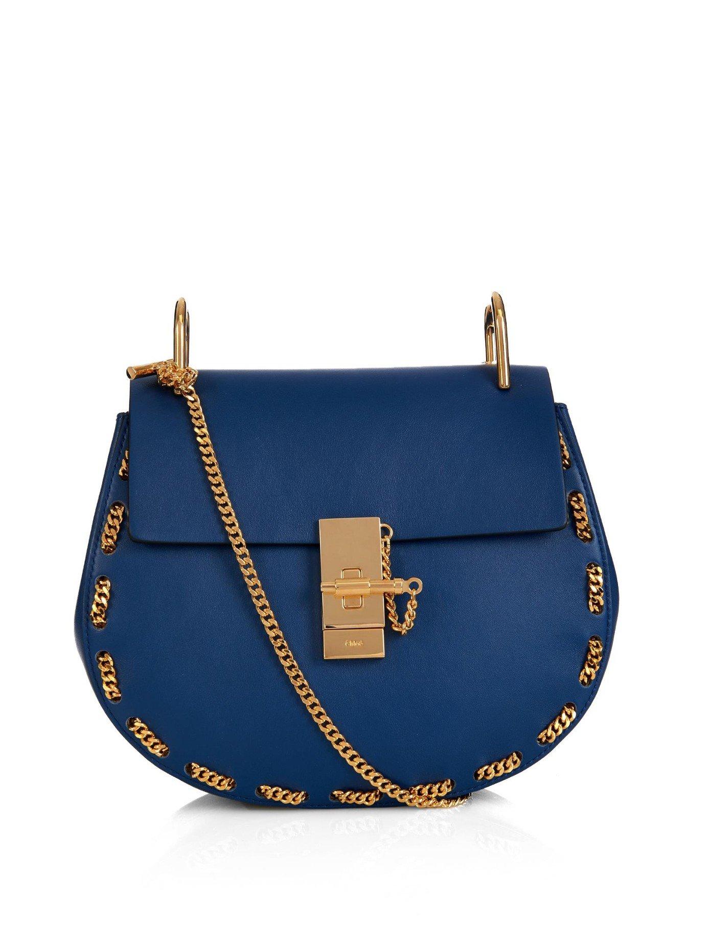 Chlo�� Drew Small Threaded-Chain Shoulder Bag in Blue | Lyst