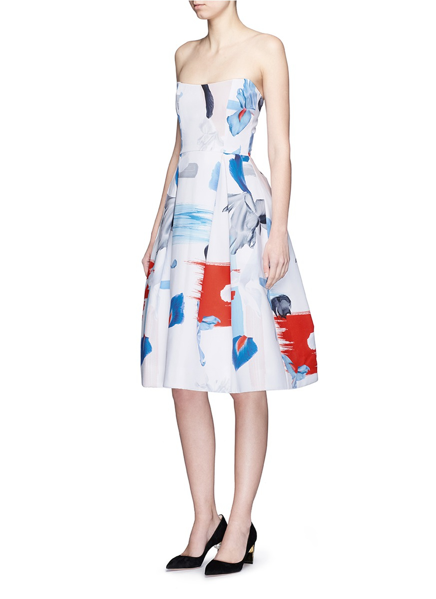 49aecec45ca8 Nicholas Iris Print Crepe Ball Dress - Lyst
