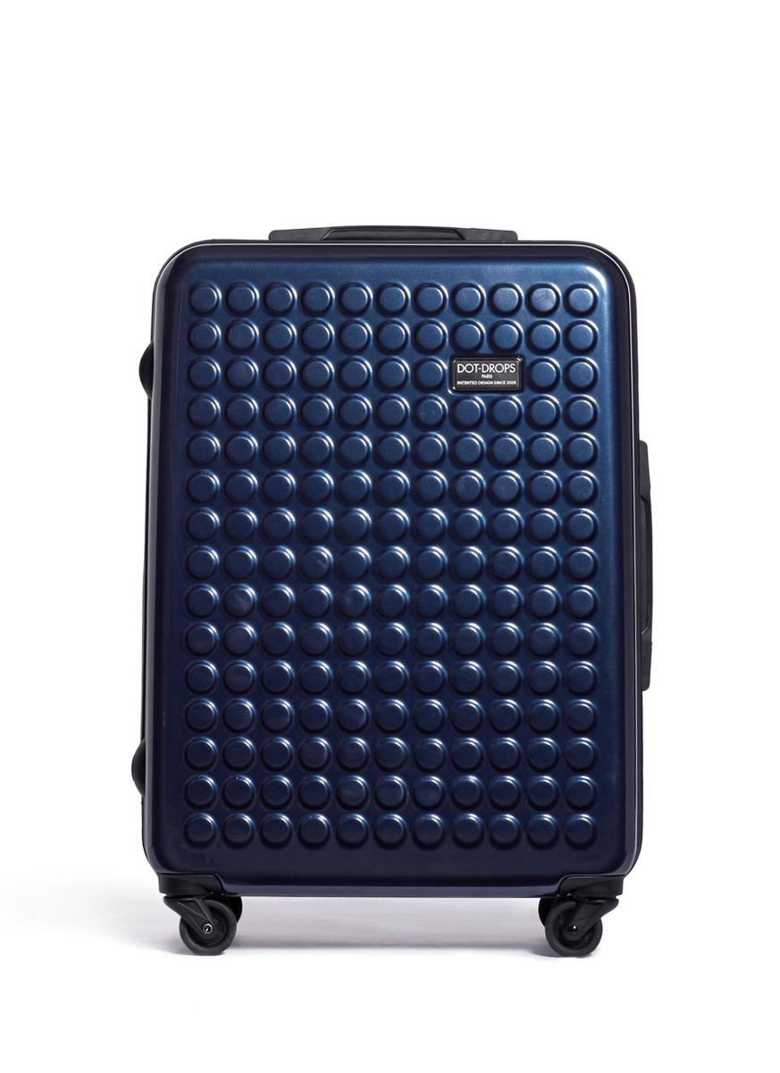 Lyst Dot Drops X Tra Light 25 Quot Suitcase Metallic Blue