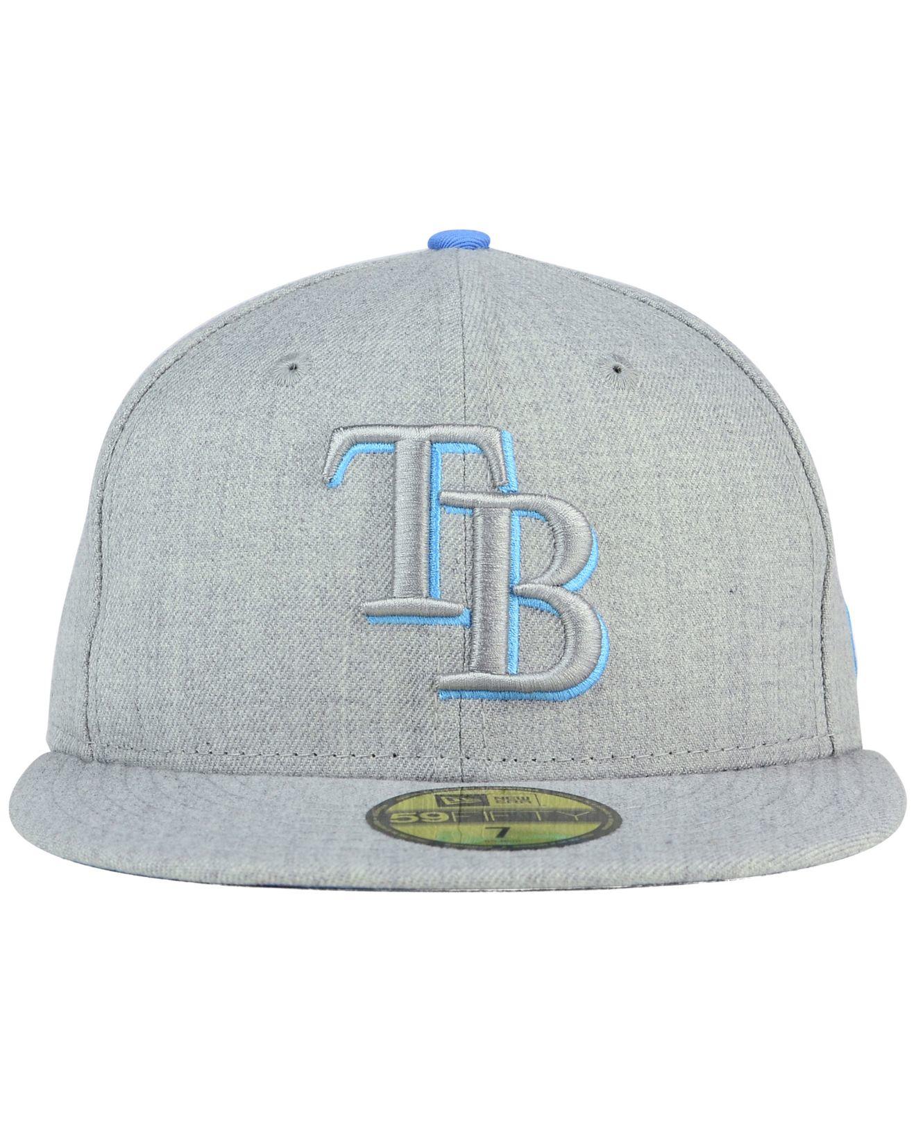 hot sale online edb78 785e0 ... fitted hat light navy mlb cap 5ca95 19bfa  denmark lyst ktz tampa bay  rays heather league basic 59fifty cap in gray ef7b9 7e371