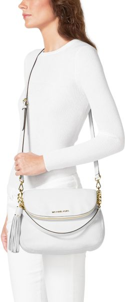 New Zealand Michael Kors Weston Totes - Bags Michael Kors Medium Weston Convertible Shoulder Bag Optic White