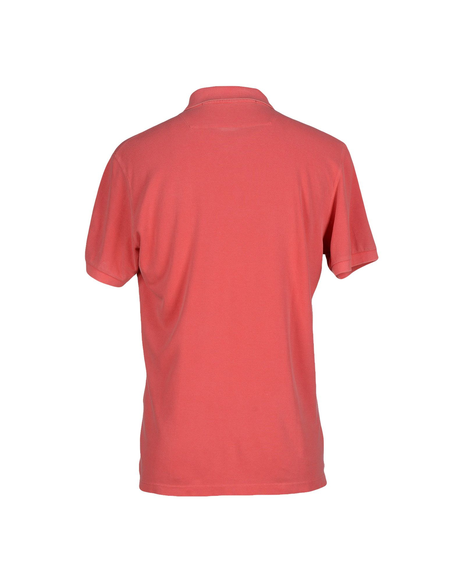 Pirelli pzero polo shirt in pink for men coral lyst for Coral shirts for guys