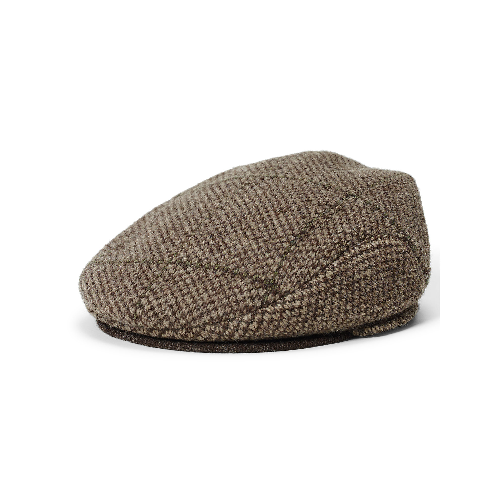 polo ralph lauren windowpane wool driving cap in brown for. Black Bedroom Furniture Sets. Home Design Ideas