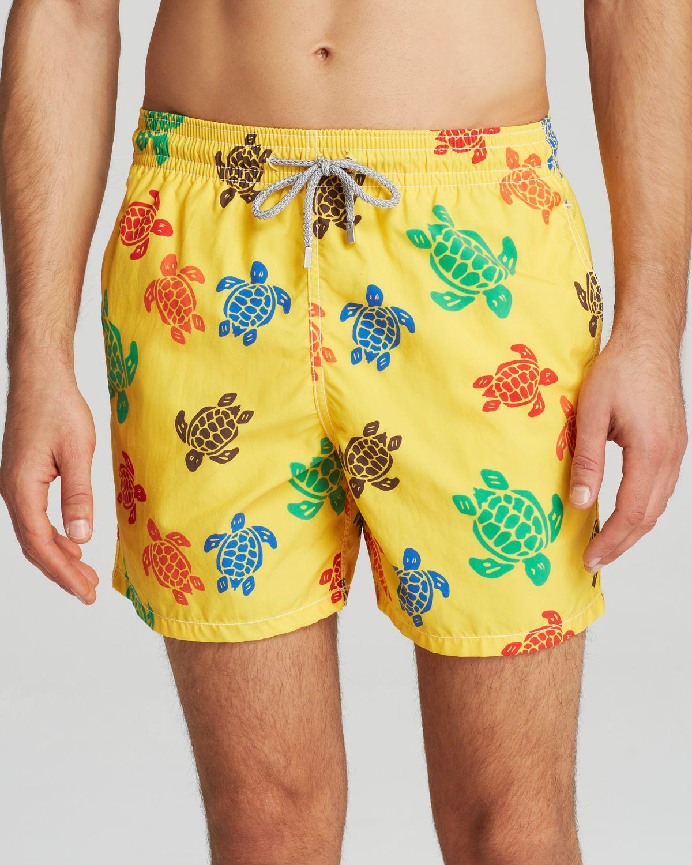 571df89c1a Vilebrequin Moorea Turtle Swim Trunks in Yellow for Men - Lyst