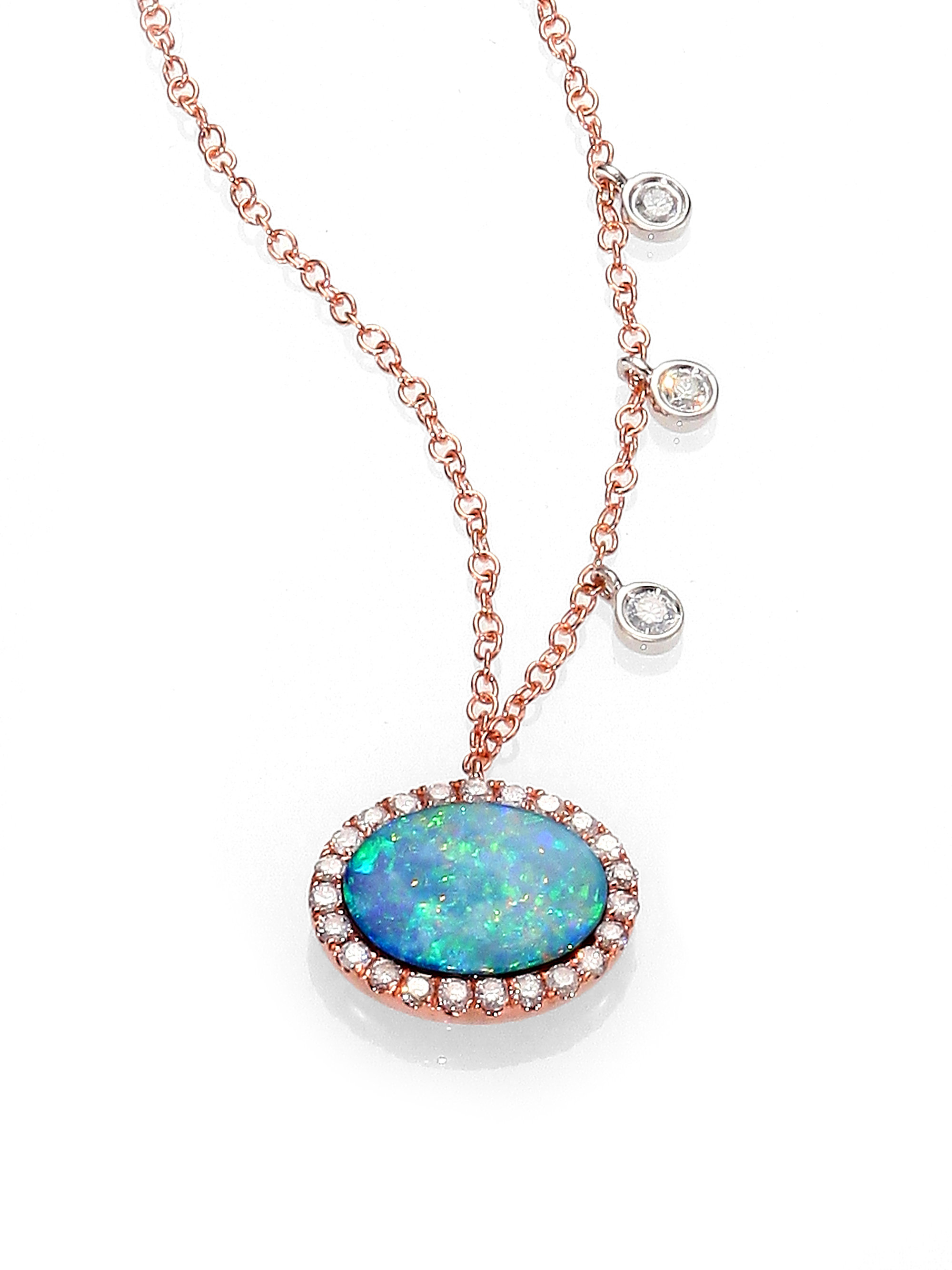 meira t opal 14k gold pendant necklace in