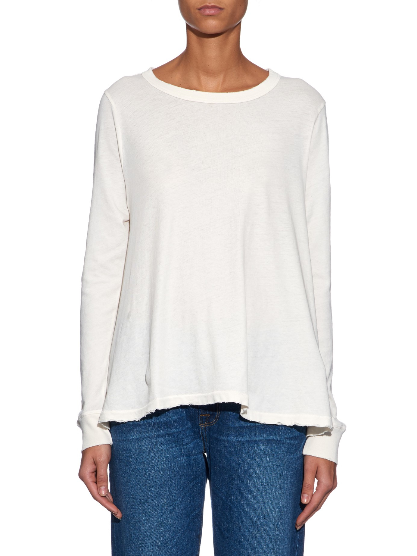The Great The Swing Long Sleeved T Shirt In Natural Lyst: the great t shirt