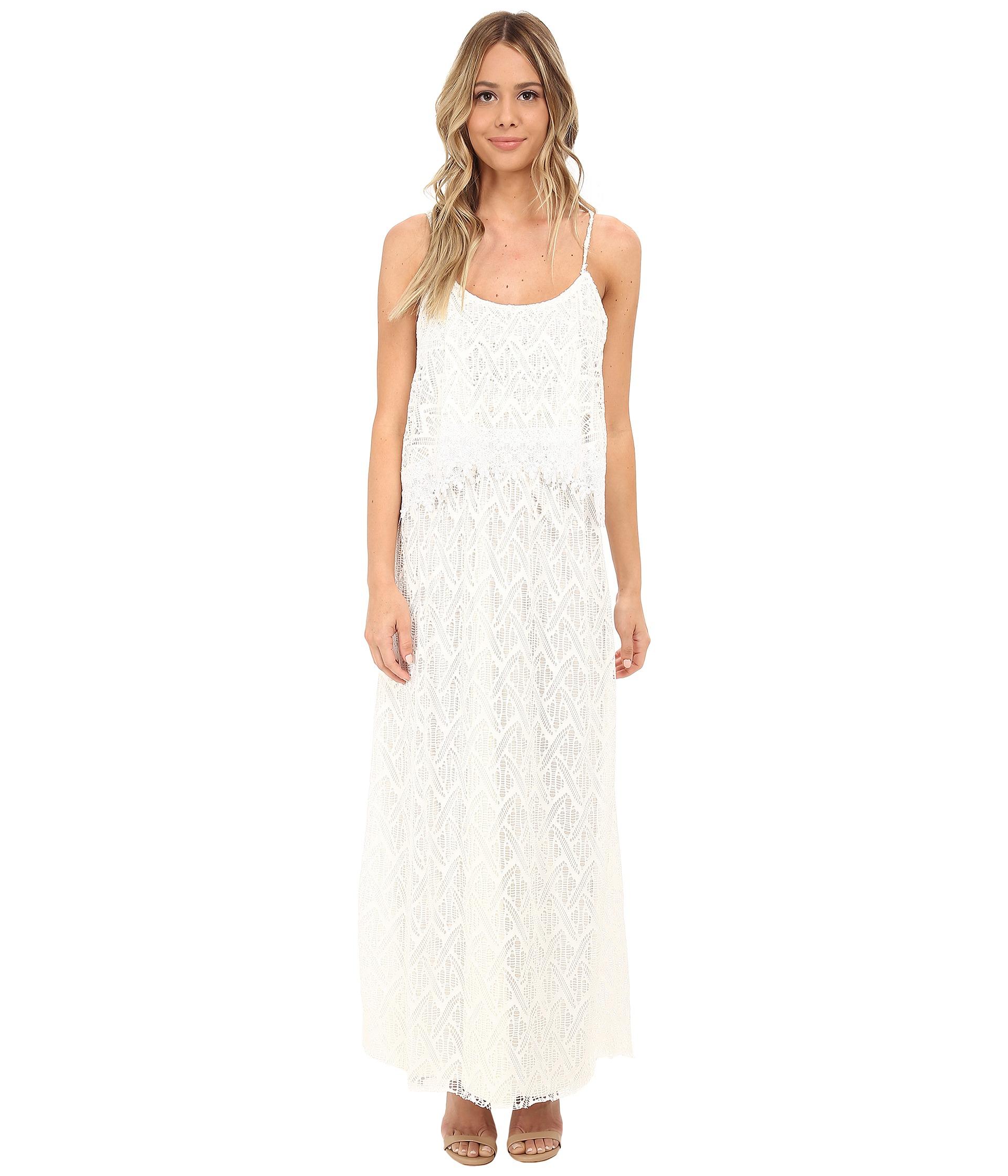 99010caa2ea Crochet Lace Maxi Dress White
