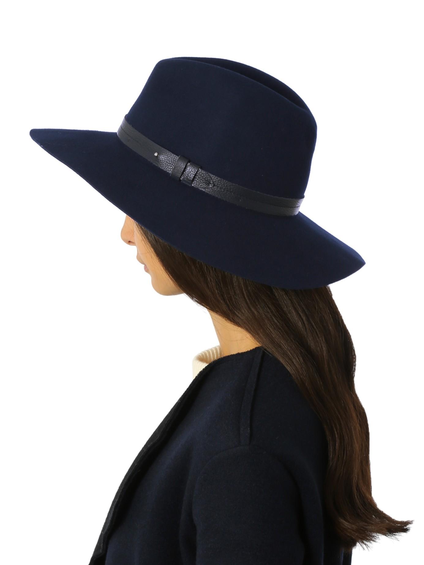 a863c59af Rag & Bone Wide-brim Wool Fedora Hat in Blue - Lyst