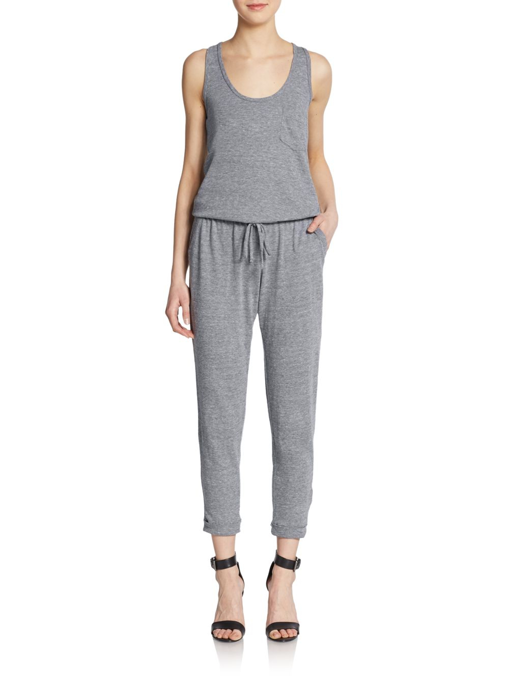 8117e318a65 Lyst - C C California Jersey Knit Jumpsuit in Gray