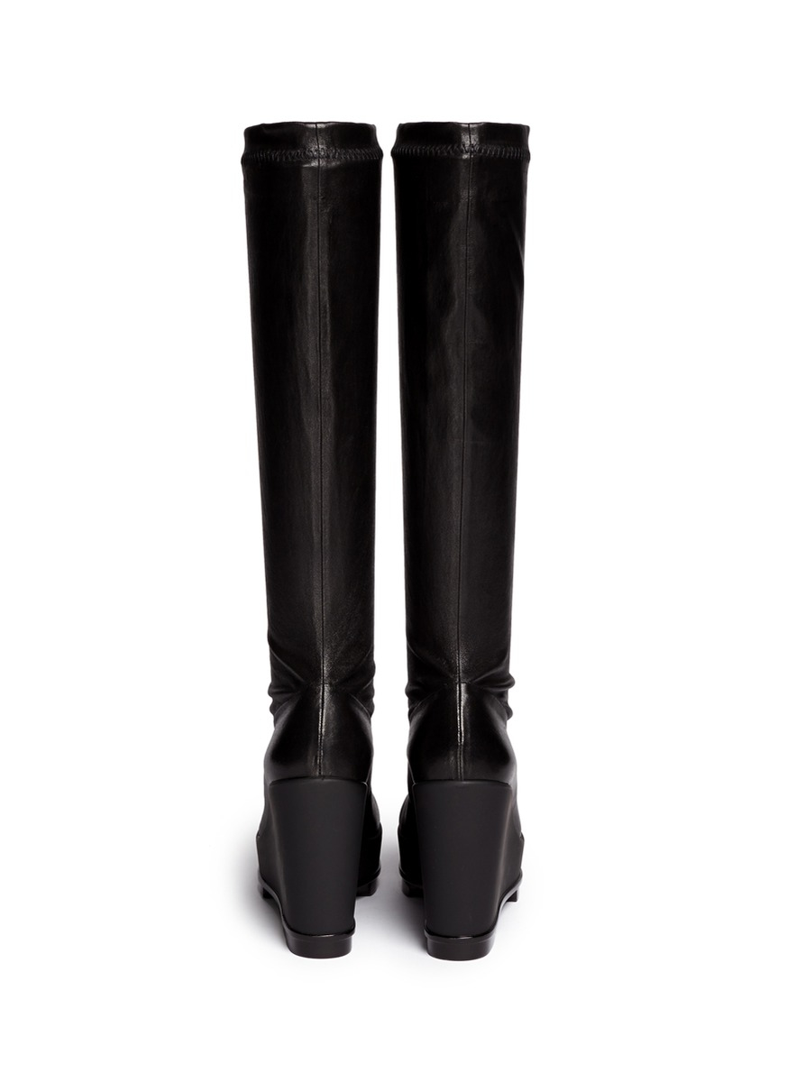 Robert Clergerie Platform Leather Knee-High Boots cheap recommend outlet buy discount for nice aAVtOZ5C0