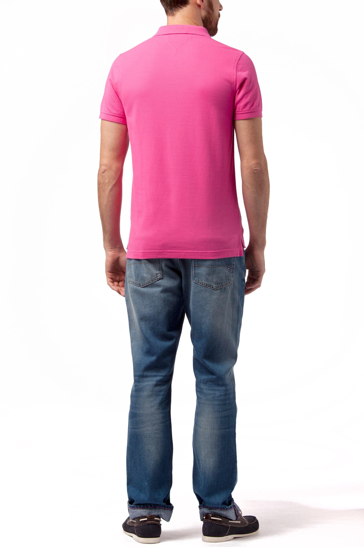 tommy hilfiger slim fit short sleeve polo shirt in purple for men. Black Bedroom Furniture Sets. Home Design Ideas