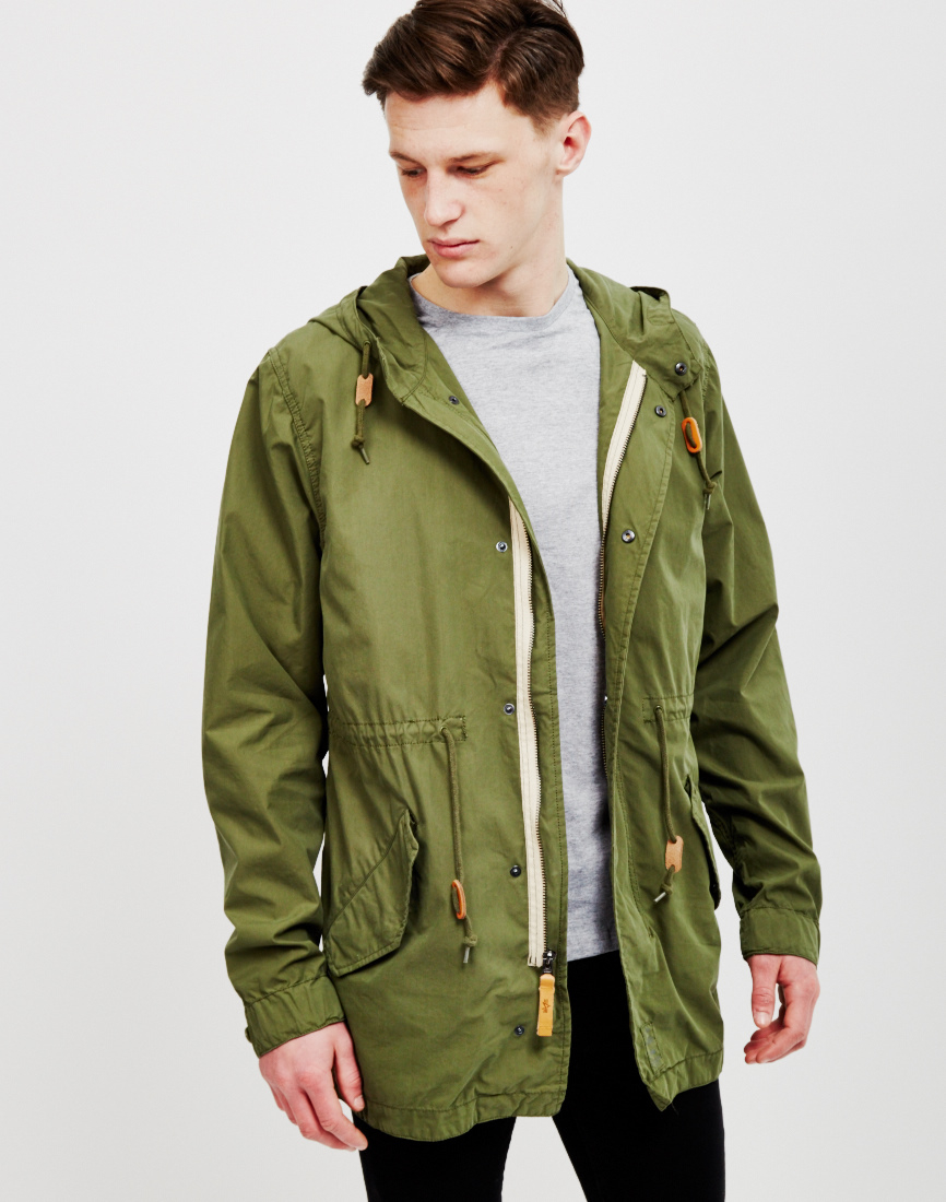 Alpha industries Light Weight Fishtail Parka Olive in Green for ...