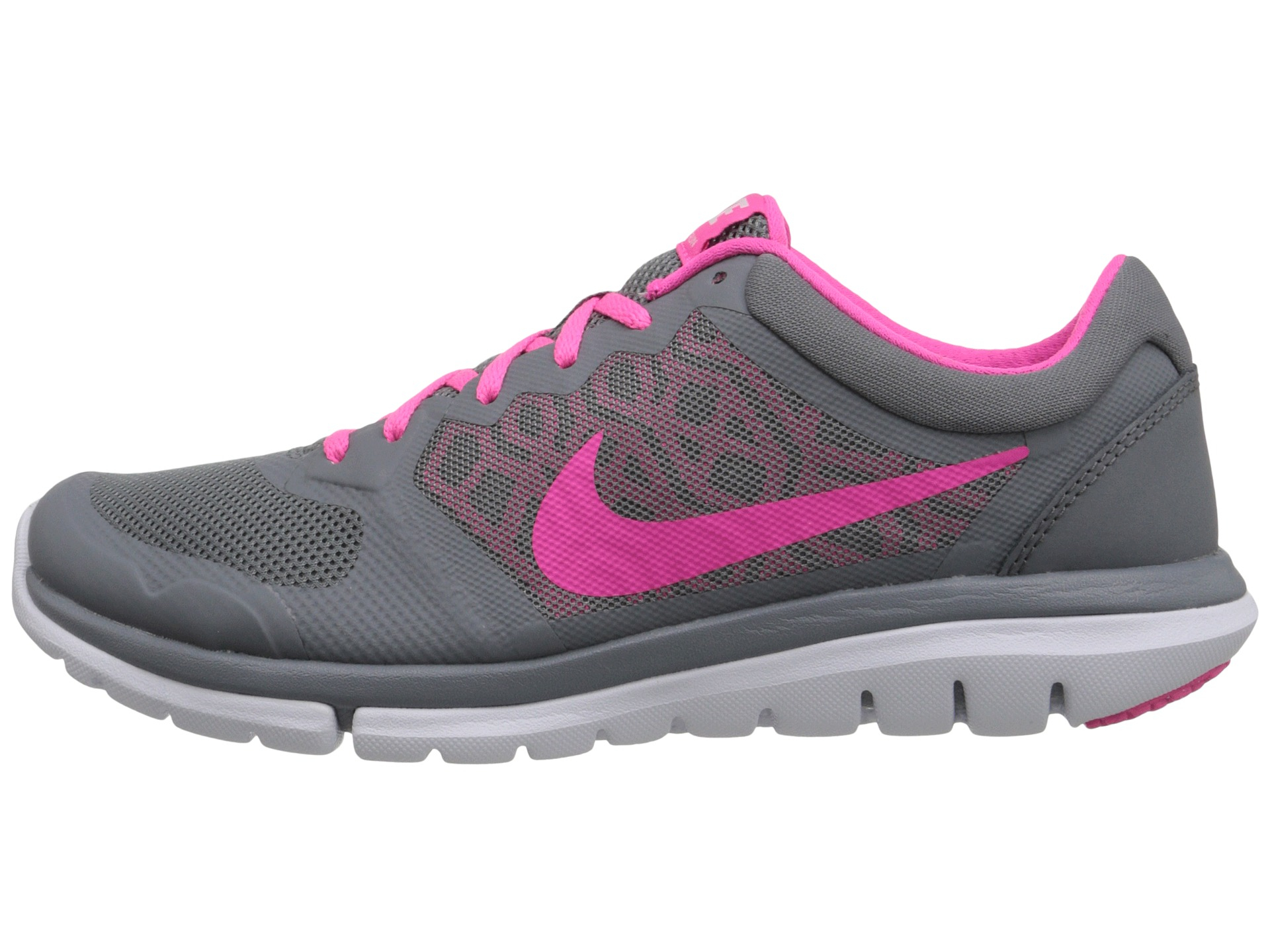 Nike Flex 2015 Run in Gray (Cool Grey/White/Pink Pow)