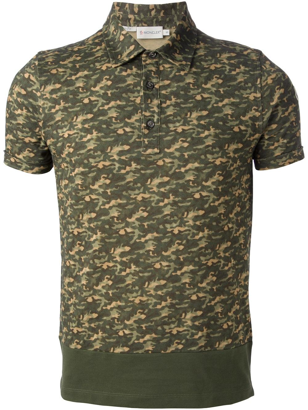 moncler polo camouflage