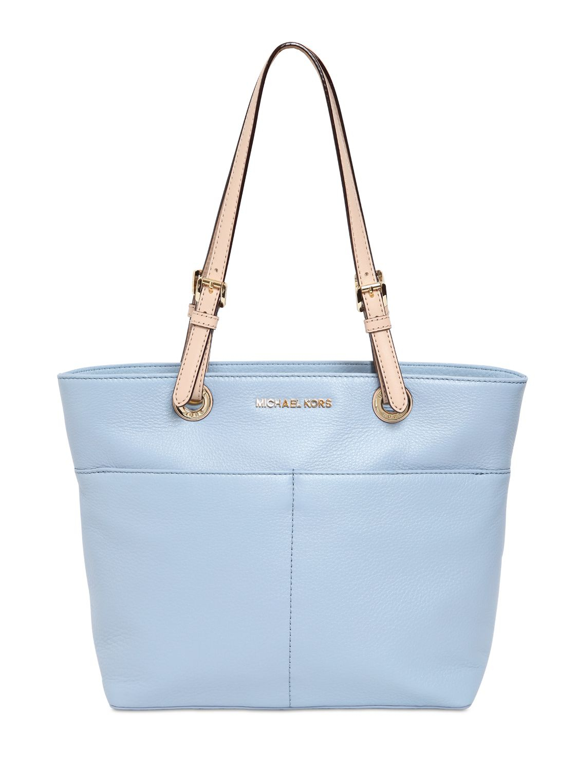 c93dddf8a9ae ... get michael michael kors bedford pocket leather tote in blue lyst a4ca3  a54a3