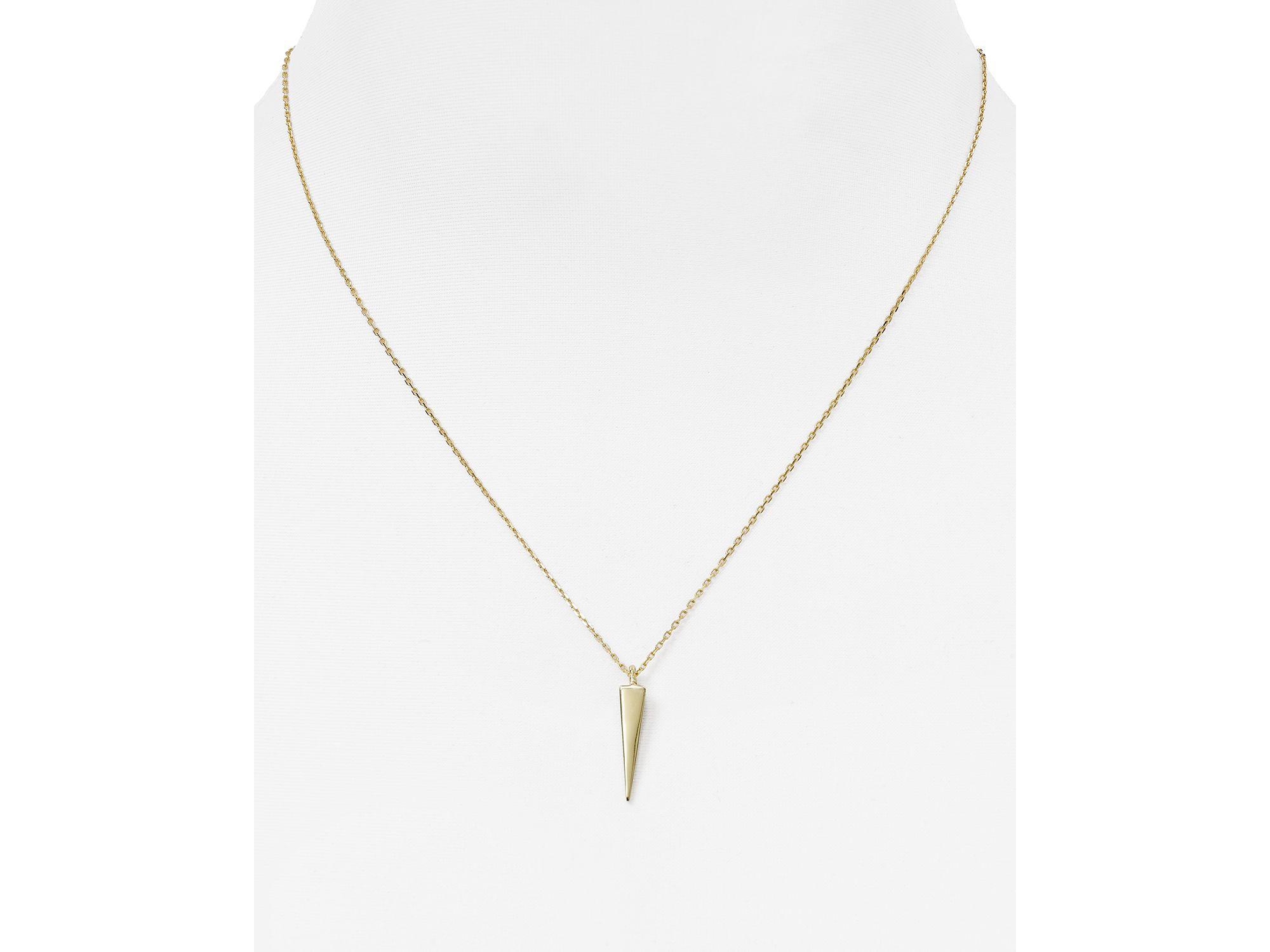 "Melinda Maria Katrina Pyramid Pendant Necklace, 18"" in Gold (Metallic)"