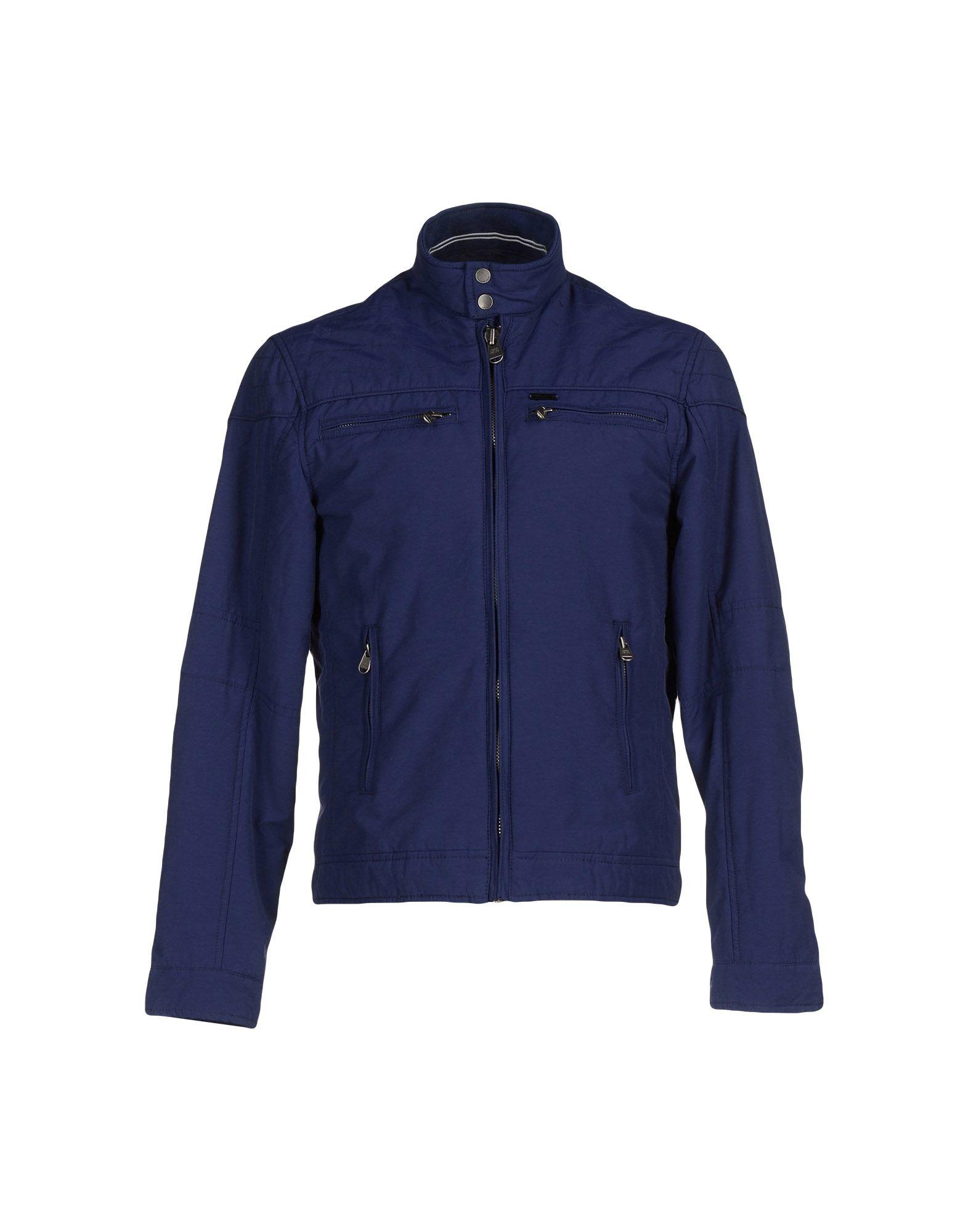 lyst pepe jeans jacket in blue for men. Black Bedroom Furniture Sets. Home Design Ideas