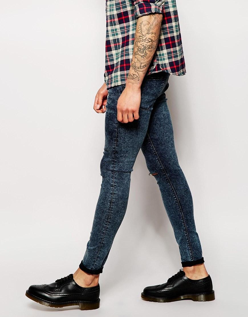 jeans super skinny fit acid wash sch ne jeansmodelle. Black Bedroom Furniture Sets. Home Design Ideas