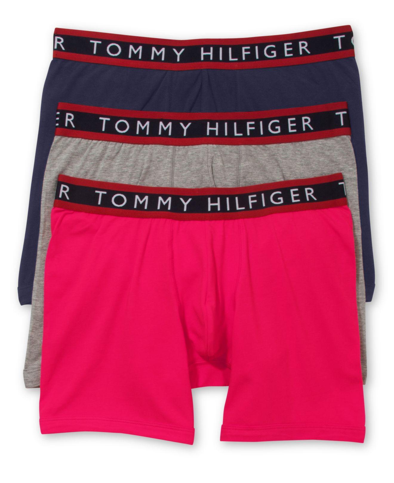tommy hilfiger men 39 s stretch boxer briefs 3 pack in black for men lyst. Black Bedroom Furniture Sets. Home Design Ideas