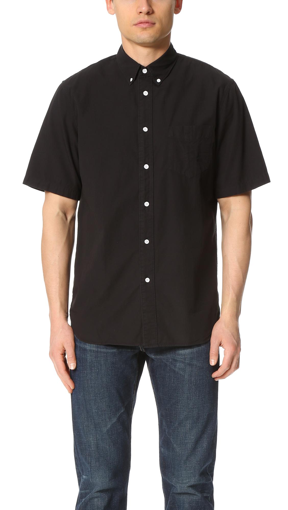 Rag Bone Short Sleeve Standard Issue Shirt In Black For