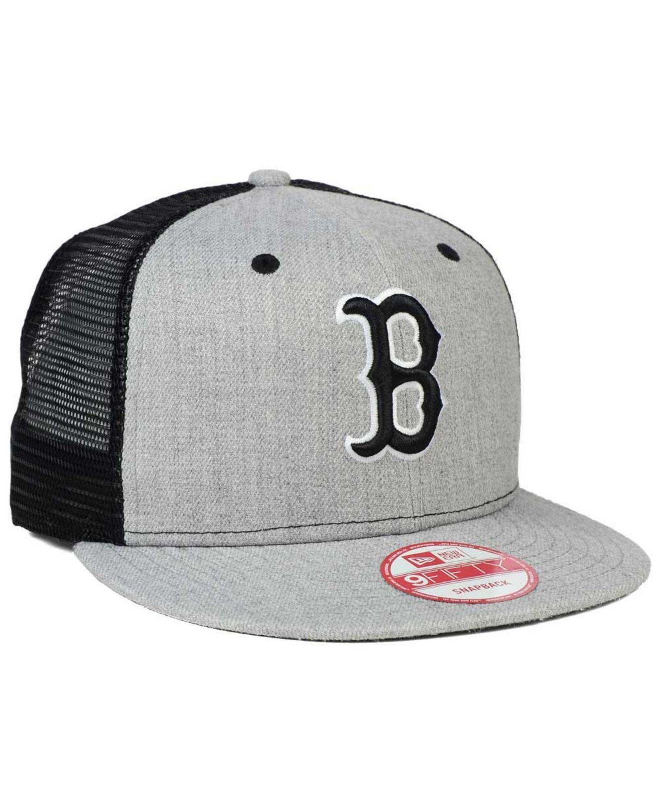 Lyst - KTZ Boston Red Sox Heather Trucker 9fifty Snapback Cap in ... acb80097322c