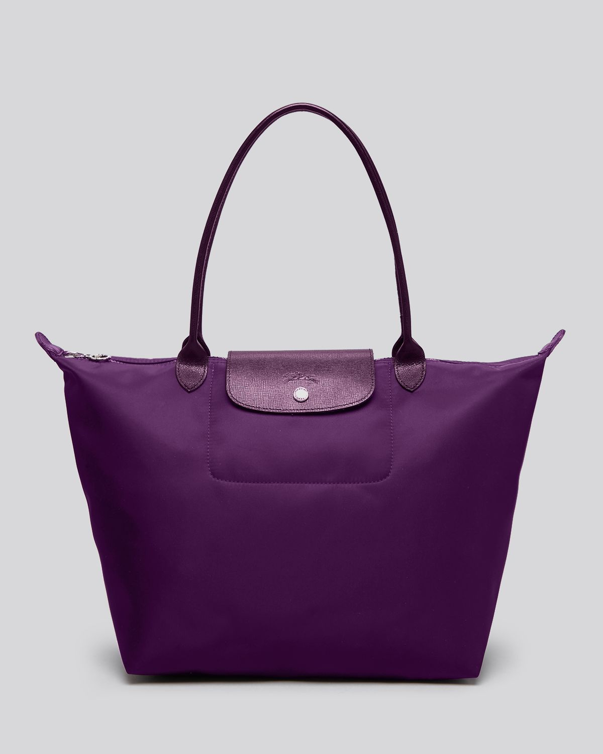 longchamp tote le pliage neo large in purple bilberry