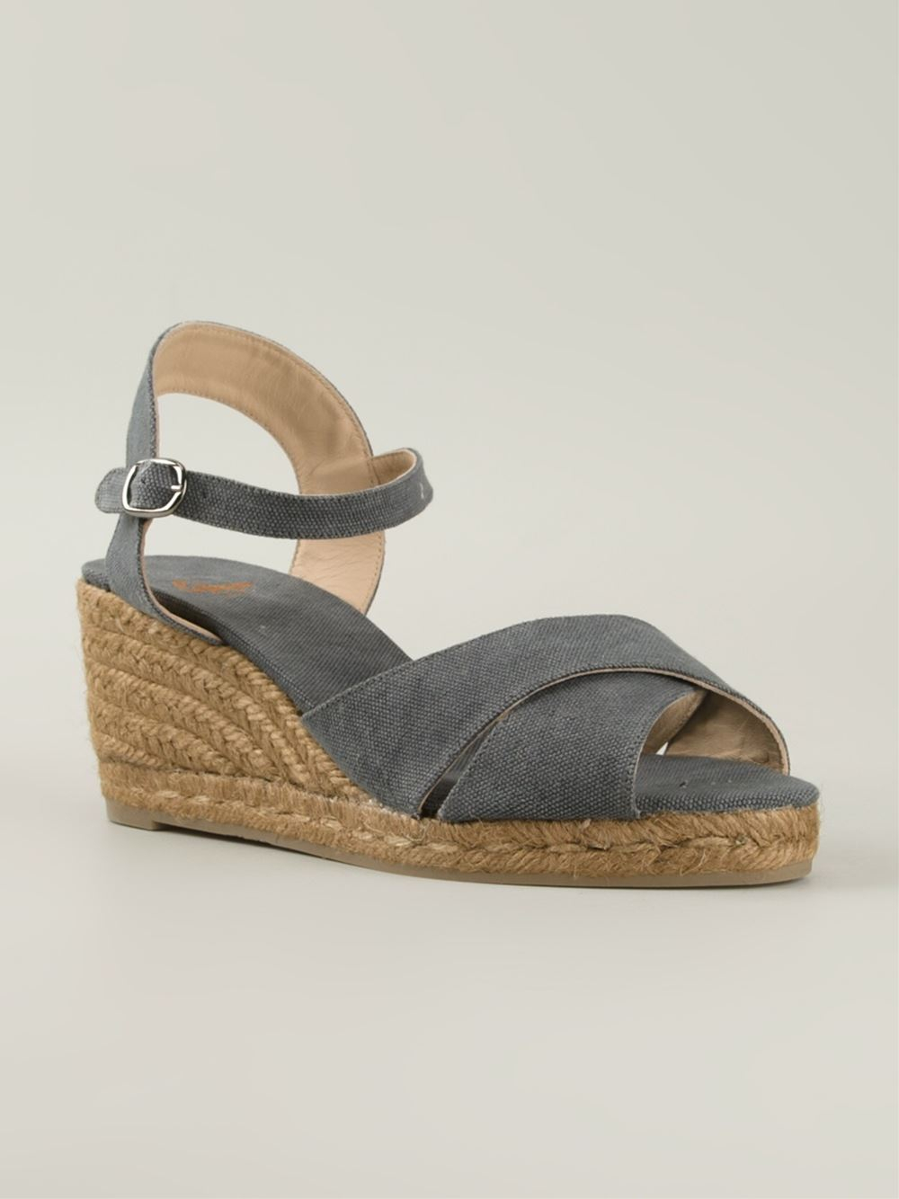 2d33fe722fa Castaner  blaudell  Espadrille Wedge Sandals in Gray - Lyst
