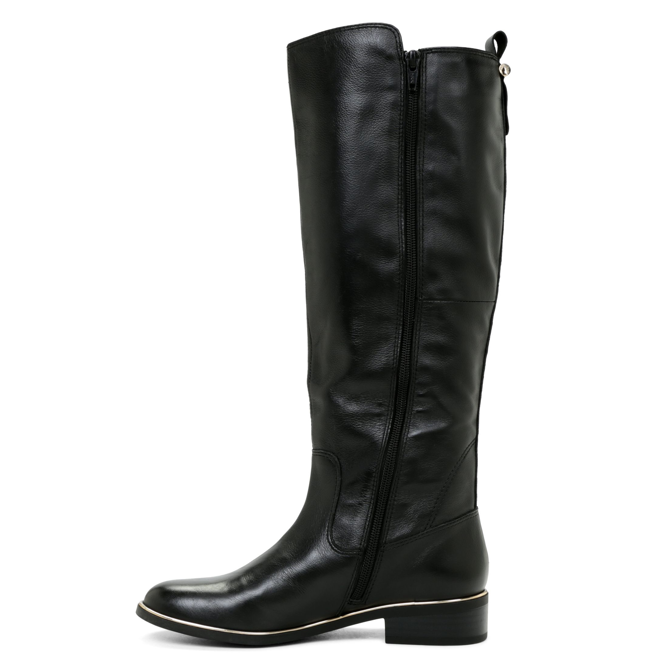 aldo cherrie zip calf boot in black lyst