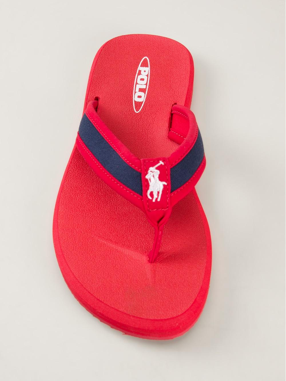 Polo Ralph Flops Men For Red Almer Lauren Flip mN0wvn8O