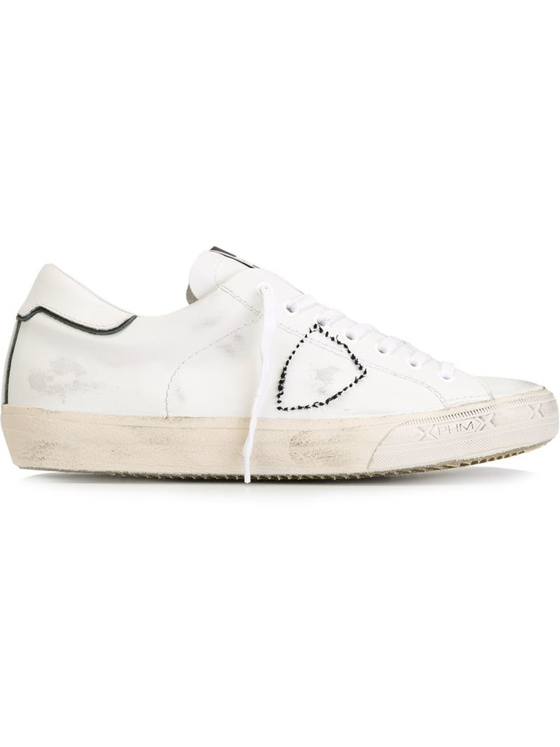 philippe model low top sneakers in white for lyst