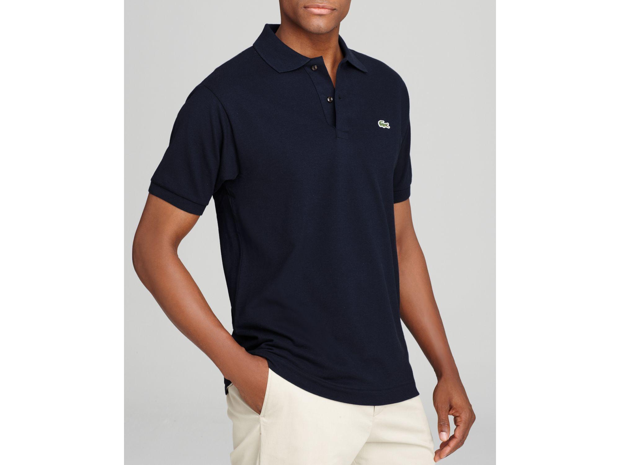 Lacoste short sleeve pique polo shirt classic fit in for Short sleeve lacoste shirt