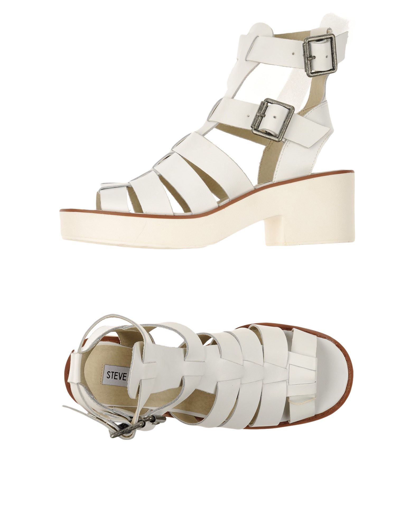 steve madden sandals in white lyst